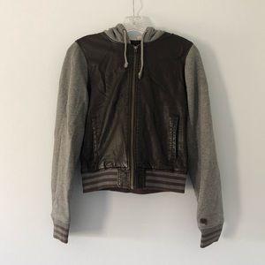 Roxy Faux Leather Bomber Jacket